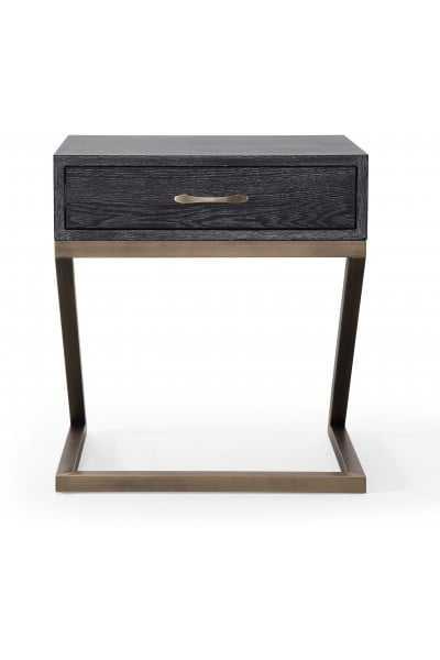 Lola Black Side Table - Maren Home