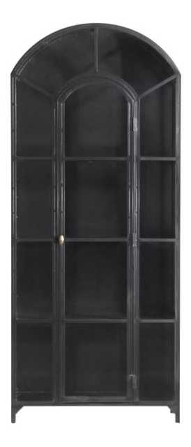 Ventana Glass Display Cabinet, Black - Crate and Barrel