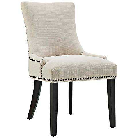 Marquis Fabric Dining Chair beige - Lamps Plus