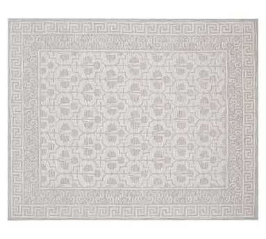Braylin Tufted Wool Rug, 9' x 12'', Gray - Pottery Barn