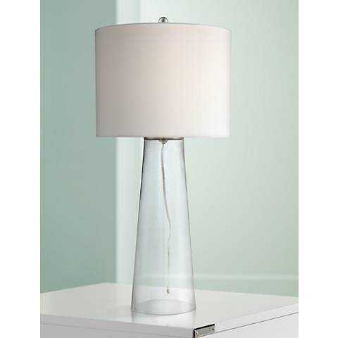 Marcus Glass Tapered Column Table Lamp - Lamps Plus
