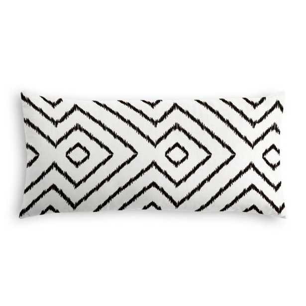 """Lumbar Pillow  Optrix - Black 12"""" x 24"""" - Loom Decor"""