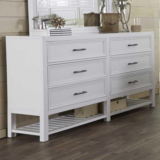 Elosie 6 Drawer Double Dresser - Wayfair