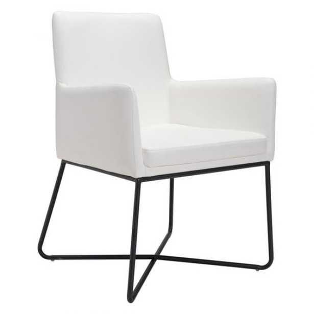Marcel Chair, White Faux Leather - Studio Marcette
