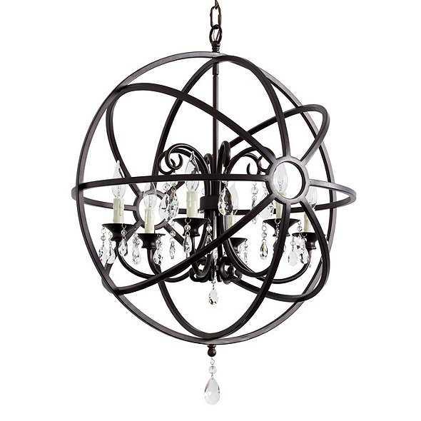 Ballard Designs Nicolette Crystal Orb Chandelier - Antique Bronze - Ballard Designs