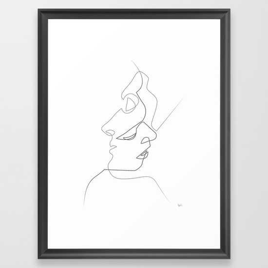 Close on White - FRAMED ART PRINT SCOOP BLACK MEDIUM - Society6