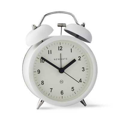 Newgate Charlie Bell Alarm Clock, White - Williams Sonoma
