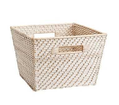 Large Quinn White Washed Basket - Pottery Barn Kids