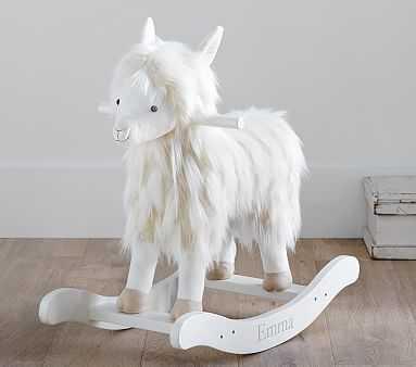 Nursery Faux-Fur Plush Rocker - Llama - Pottery Barn Kids