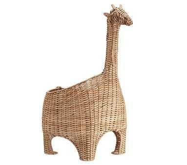 Giraffe Shaped Wicker Basket - Pottery Barn Kids