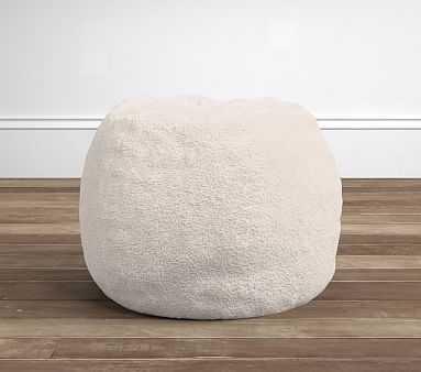 Cream Sherpa Anywhere Beanbag(TM) Insert & Slipcover Set - Pottery Barn Kids