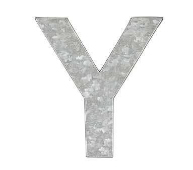 Galvanized Wall Letter, Y - Pottery Barn Kids