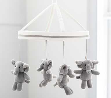 Harper Elephant Crib Mobile - Pottery Barn Kids