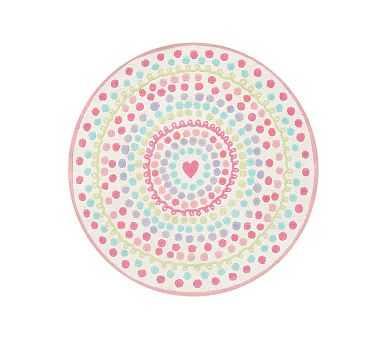 Heart Dot Round Rug - Pottery Barn Kids