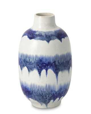 Ceramic Drip Vase, Small, Blue - Williams Sonoma