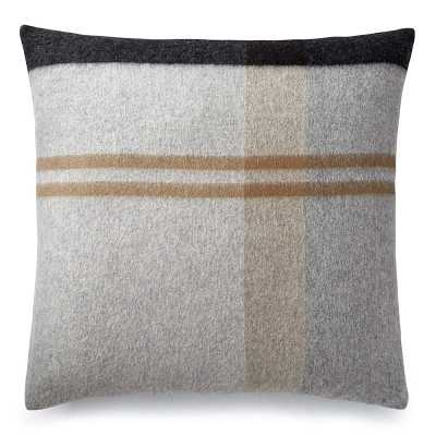 """Plaid Lambswool Pillow Cover, 22"""" X 22"""", Grayson - Williams Sonoma"""