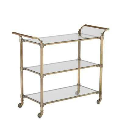 Beckett Bar Cart, Brass - Williams Sonoma