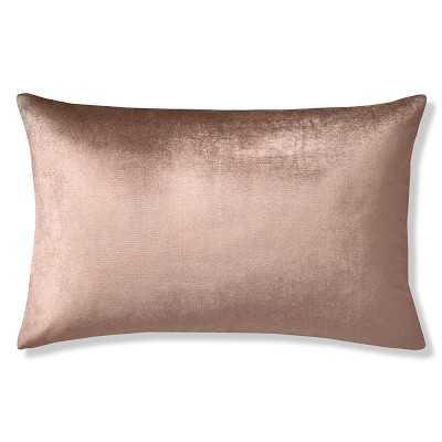 "Velvet Lumbar Pillow Cover, 14"" X 22"", Apricot - Williams Sonoma"