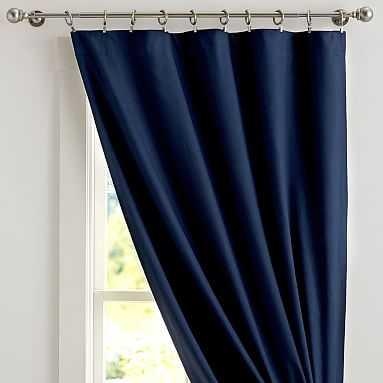 Classic Sail Cloth Blackout Curtain, 44x96, Navy - Pottery Barn Teen