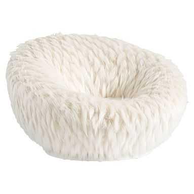 Winter Fox Faux-Fur Groovy Swivel Chair - Pottery Barn Teen
