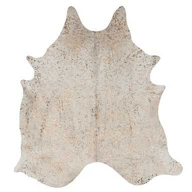 Speckled Gold Metallic Cowhide Rug - Pottery Barn Teen