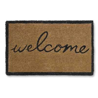 Welcome Doormat, Black - Williams Sonoma