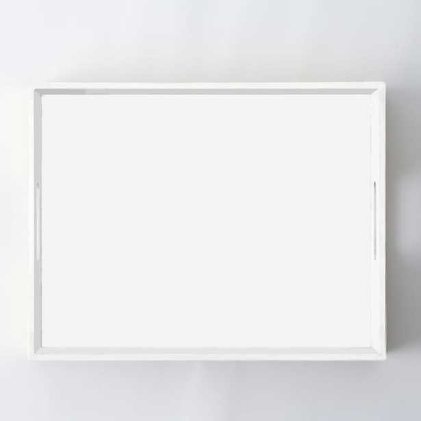 Small Rectangle Lacquer Tray, White - West Elm