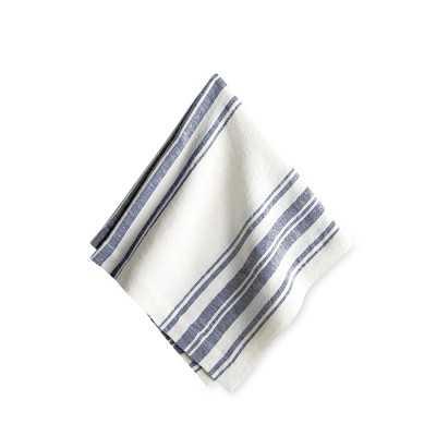 French Striped Napkins, Set of 4, Navy Blue - Williams Sonoma