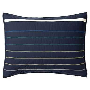 Laid Back Stripes, Standard Sham, Multi - Pottery Barn Teen