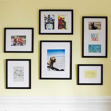 Gallery Frames, Gallery In A Box, Set of 6, Black - Pottery Barn Teen