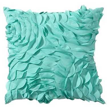 Pretty Petals Pillow, 14X14, Pool - Pottery Barn Teen