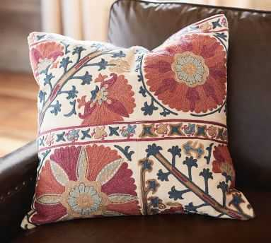 """Rozelle Embroidered Pillow Cover, 20"""", Multi - Pottery Barn"""