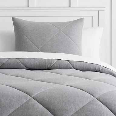 Favorite Tee Comforter, Full/Queen, Heathered Gray - Pottery Barn Teen