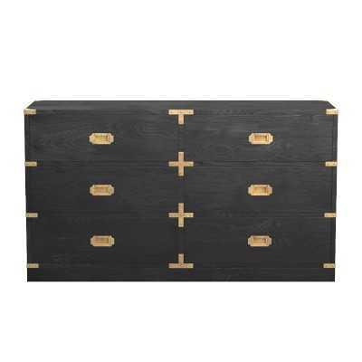 Campaign Dresser, Artisanal Black, Antique Brass - Williams Sonoma