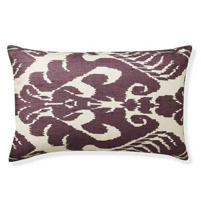 "Silk Ikat Medallion Lumbar Pillow Cover, 14"" X 22"", Lilac - Williams Sonoma"