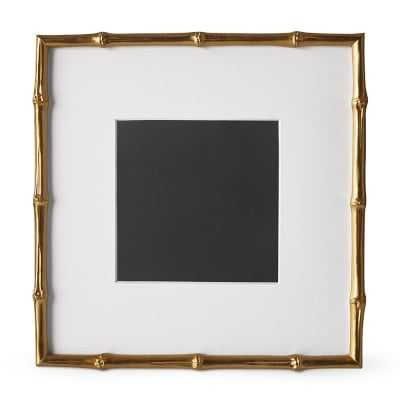 """AERIN Gilded Bamboo Gallery Frame, 8"""" X 8"""" - Williams Sonoma"""