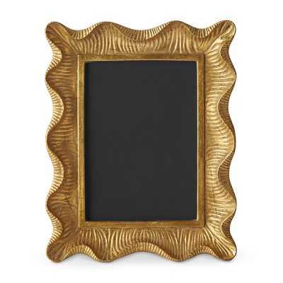 "AERIN Gold Scalloped Gallery Frame, 5"" X 7"" - Williams Sonoma"