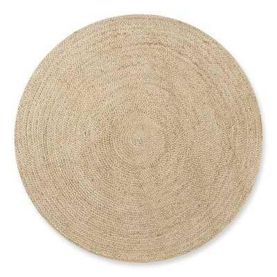 Natural Braided Round Rug, 8', Natural - Williams Sonoma