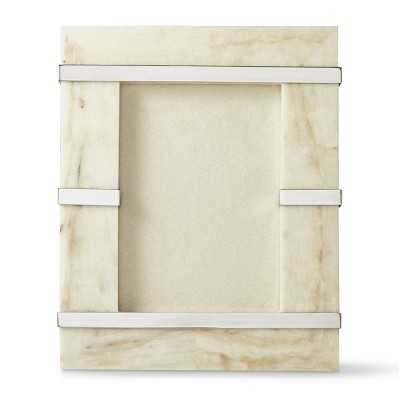 """Stone and Polished Nickel Frame, 5"""" X 7"""" - Williams Sonoma"""