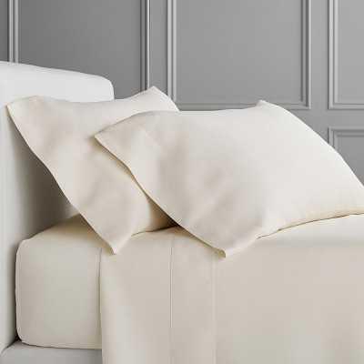 Signature Linen Bedding, Sheet Set, Queen, Ivory - Williams Sonoma