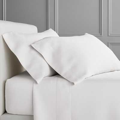 Signature Linen Bedding, Sheet Set, King, White - Williams Sonoma