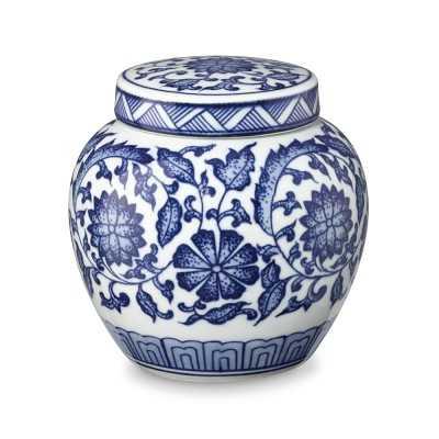 Garden Floral Petite Ginger Jar, White & Blue - Williams Sonoma