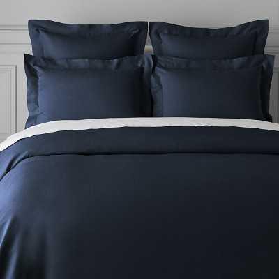 Signature Linen Bedding, Duvet, King, Navy - Williams Sonoma