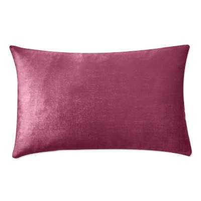 """Velvet Lumbar Pillow Cover, 14"""" X 22"""", Sangria - Williams Sonoma"""