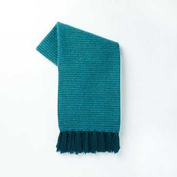 """Coziest Solid Throw, 44""""x56"""", Blue Teal - West Elm"""