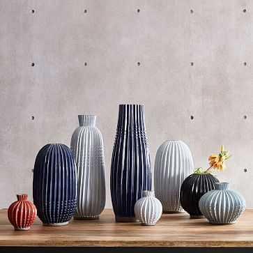 """Rustic Pure Vase, 20 """", White - West Elm"""