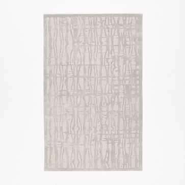 Cascade Wool Rug, 5'x8', Platinum - West Elm