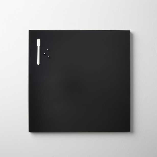 matte black magnetic-dry erase board - CB2