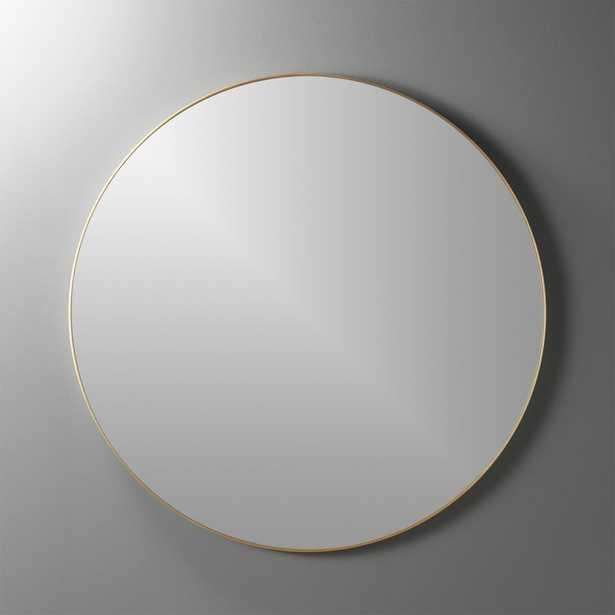 """infinity 36"""" round brass wall mirror"" - CB2"