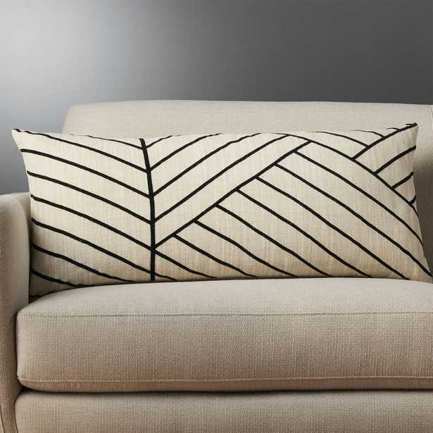 """36""""""""x16"""" forma pillow with feather-down insert"""" - CB2"""